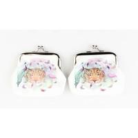 "Geldbörse ""Butterfly & Flamingo"" weiß, doppelpack"