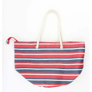 "Strandtas ""Nautical stripes"" rood"