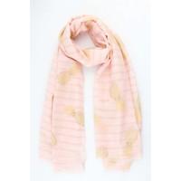 """Schal """"Streifen & Ananas"""" rosa"""