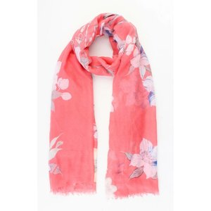 "Sjaal ""Spring flowers"" rood"