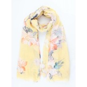 "Scarf ""Spring flowers"" yellow"
