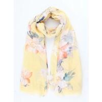 """Sjaal """"Spring flowers"""" geel"""