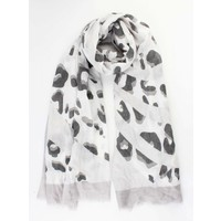 "Scarf ""Crazy leopard grey"
