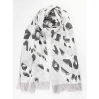 """Sjaal """"Crazy leopard grijs"""