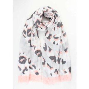 """Sjaal """"Crazy leopard"""" roze"""
