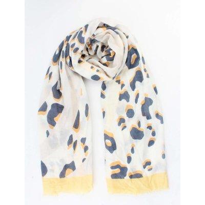 """Schal """"Crazy Leopard"""" gelb"""