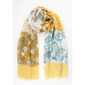 """Scarf """"Mixed styles"""" yellow"""