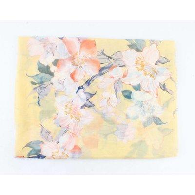 "Schal ""Frühlingsblumen"" gelb"