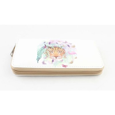 "Wallet ""Butterfly & Flamingo"" white"