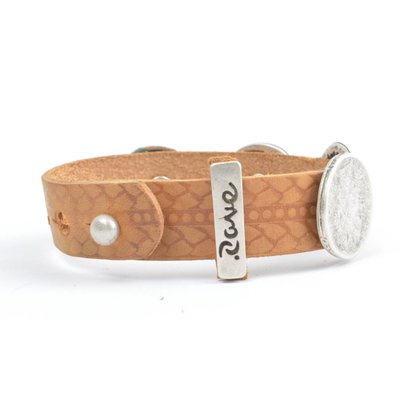 Rove Rove Bracelet 4 var. studs, Cognac, Mia (L)