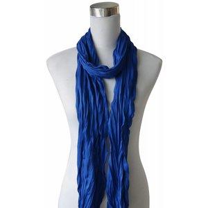 """Schal """"Uni Jersey S"""" kobalt blau"""