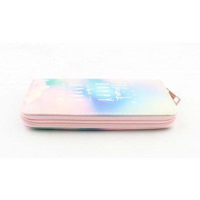 "Wallet ""Think happy"" pink"