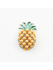 "Magneet ""Ananas"" orange/zilver"