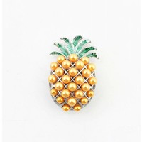 "Magnet ""Pineapple"" orange/silver"