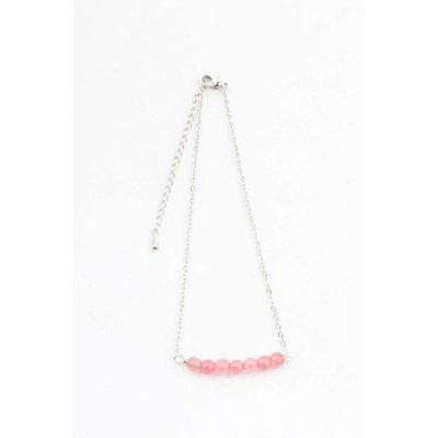 """Anklet """"Rose quartz"""" pink"""
