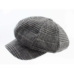 """Newsboy cap """"Pied de Poule"""" grey"""