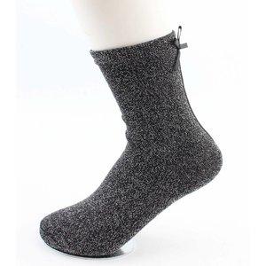 """Socken """"Lurex & Bow"""" anthrazit"""