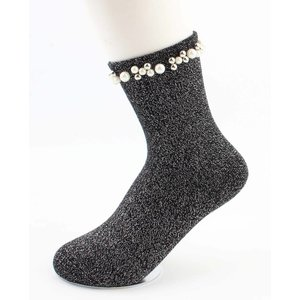 "Socks ""Madeleine"" black"