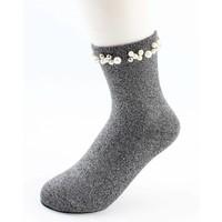 "Socken ""Madeleine"" grau"