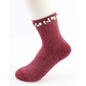 "Socks ""Madeleine"" red"