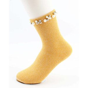 "Socks ""Madeleine"" yellow ochre"