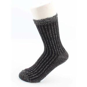 """Sokken """"Sifra"""" zwart/zilver, per 2 paar"""