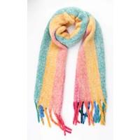 """Sjaal """"blije regenboog"""" multicolor"""