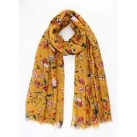 """Sjaal """"Blije bloemen"""" geel"""