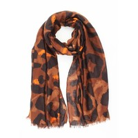 "Scarf ""Big leopard"" brown"