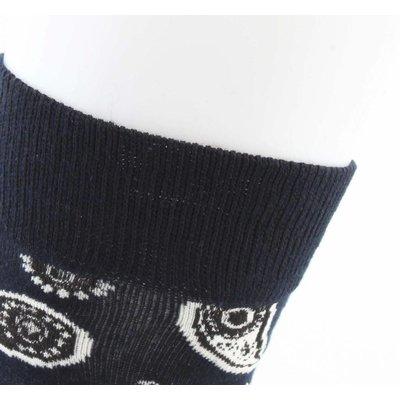 """Men's socks """"Paisley"""" dark blue"""