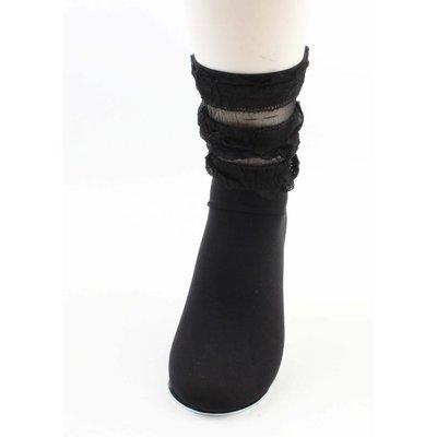 "Socken ""Ruffle"" schwarz"