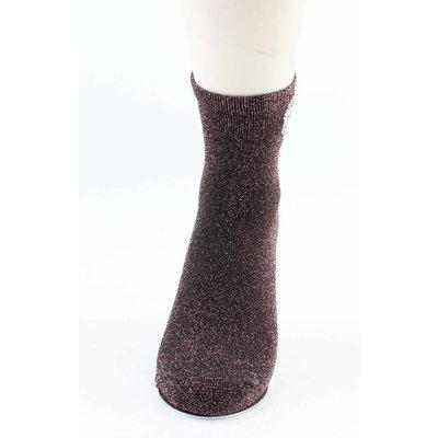 """Socken """"Herz"""" schwarz/rot"""