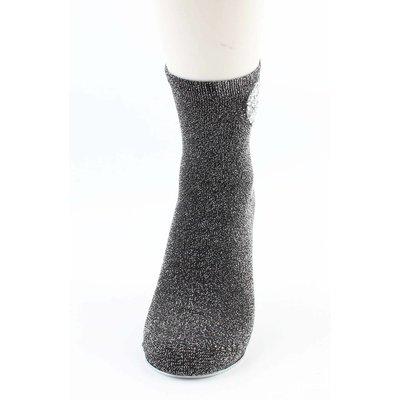"""Socken """"Heart"""" schwarz/silber"""