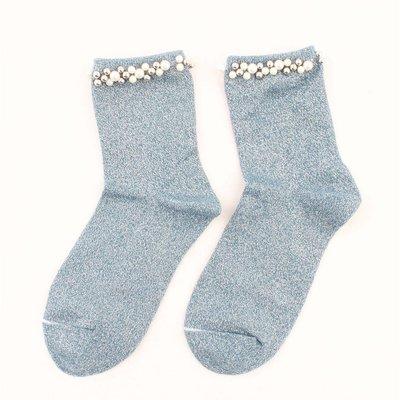 "Socks ""Madeleine"" blue"