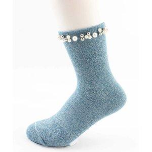 """Sokken """"Madeleine"""" blauw"""