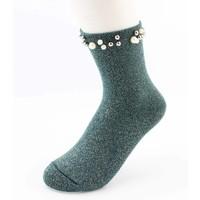"""Socken """"Madeleine"""" grün"""