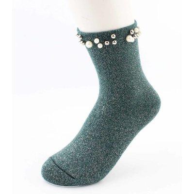 """Socks """"Madeleine"""" green"""