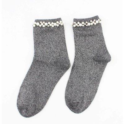 """Sokken """"Madeleine"""" grijs"""