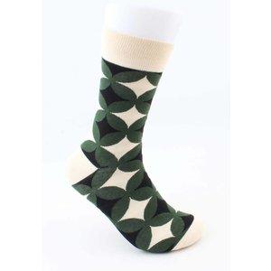 "Socks ""Diamond pattern"" cream"