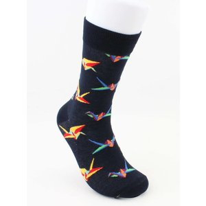 "Socks ""crane"" dark blue"