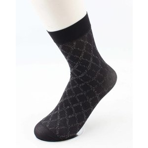 "Socks ""Lurex gingham"" anthracite, per 3 pairs"