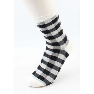 """Socken """"Diamant"""" schwarz/weiß"""