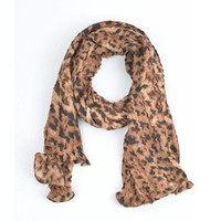 "Scarf ""Animal Crush"" brown"