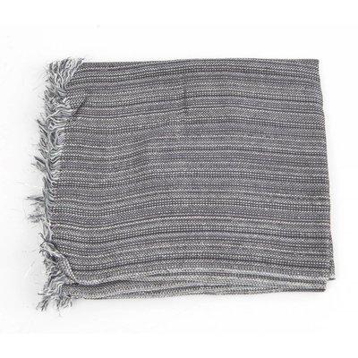 """Sjaal """"Zilver strepen"""" grijs"""