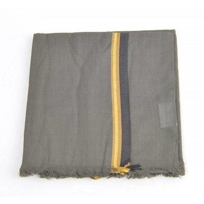 """Sjaal """"Twee strepen"""" grijs"""