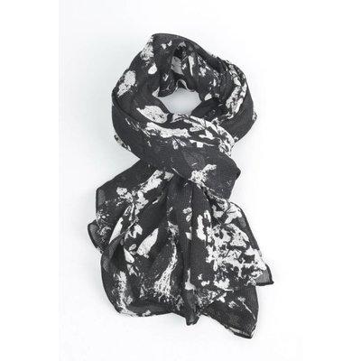 """Sjaal """"Herfst bladeren"""" zwart"""