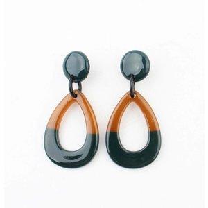 """Earrings """"Cacilia"""" petrol"""