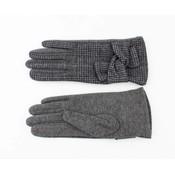 """Handschuhen """"Pied de Poule"""" grau"""