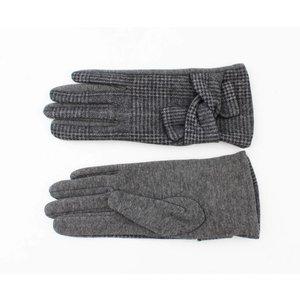 """Gloves """"Pied de poule"""" grey"""