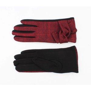 "Handschuhen ""Pied de Poule"" rot"